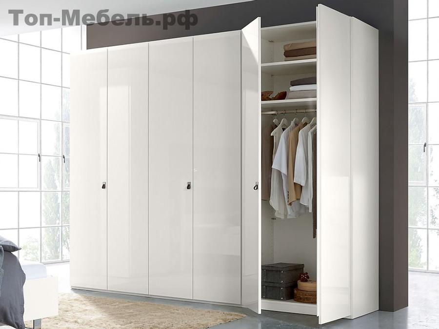Белый распашной шкаф шестидверный Bridge
