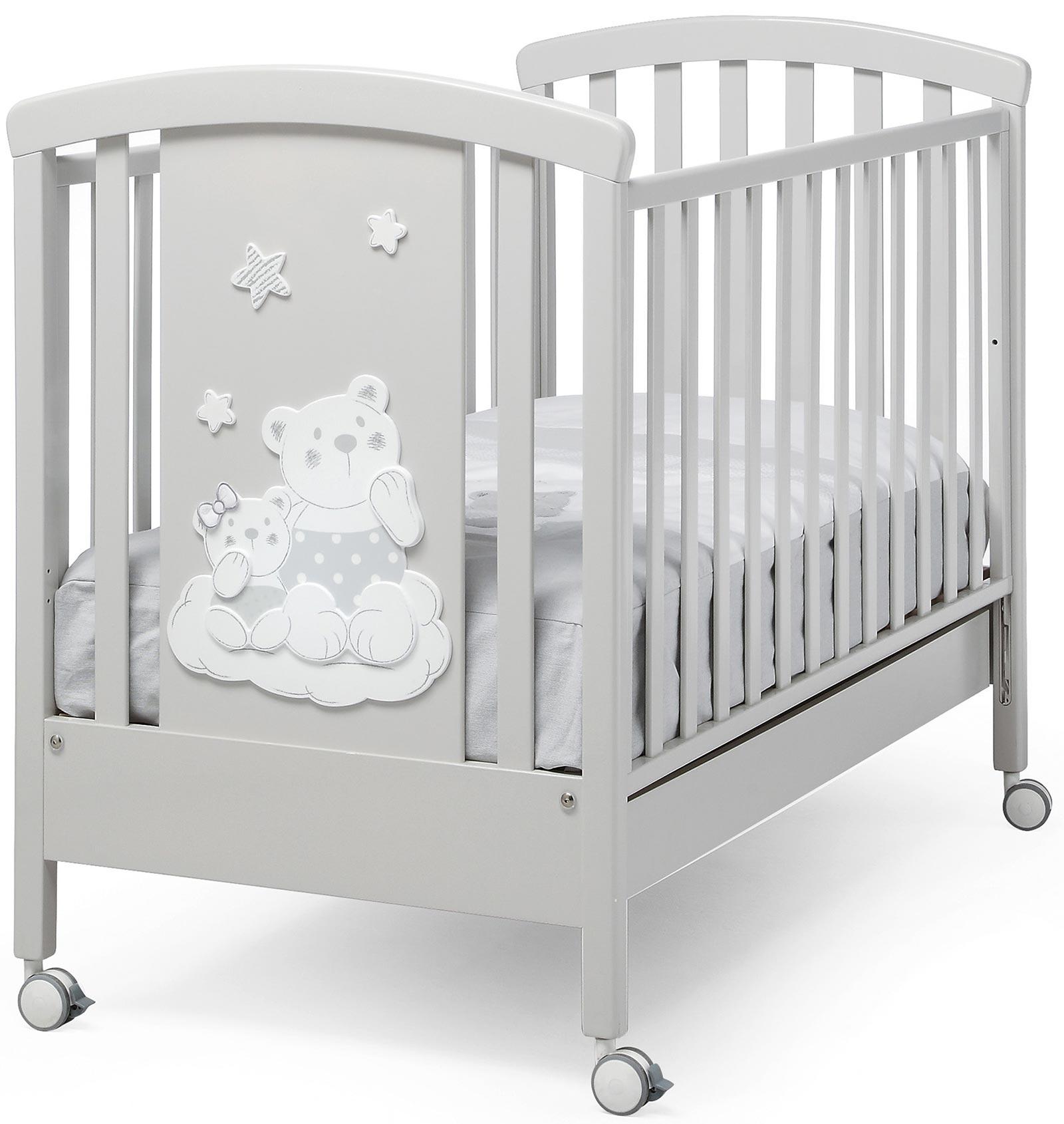 Серая кроватка Nuvola Erbesi