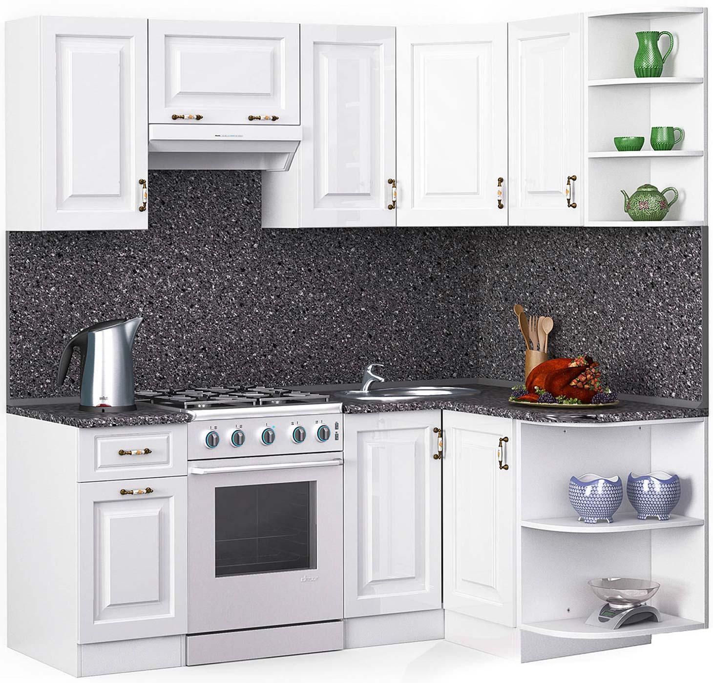 Угловая белая кухня Лиана